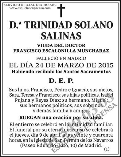 Trinidad Solano Salinas